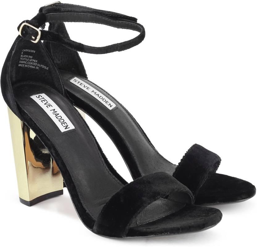 44e29d559e0 Steve Madden Women BLACK VELVET Casual - Buy BLACK Color Steve ...