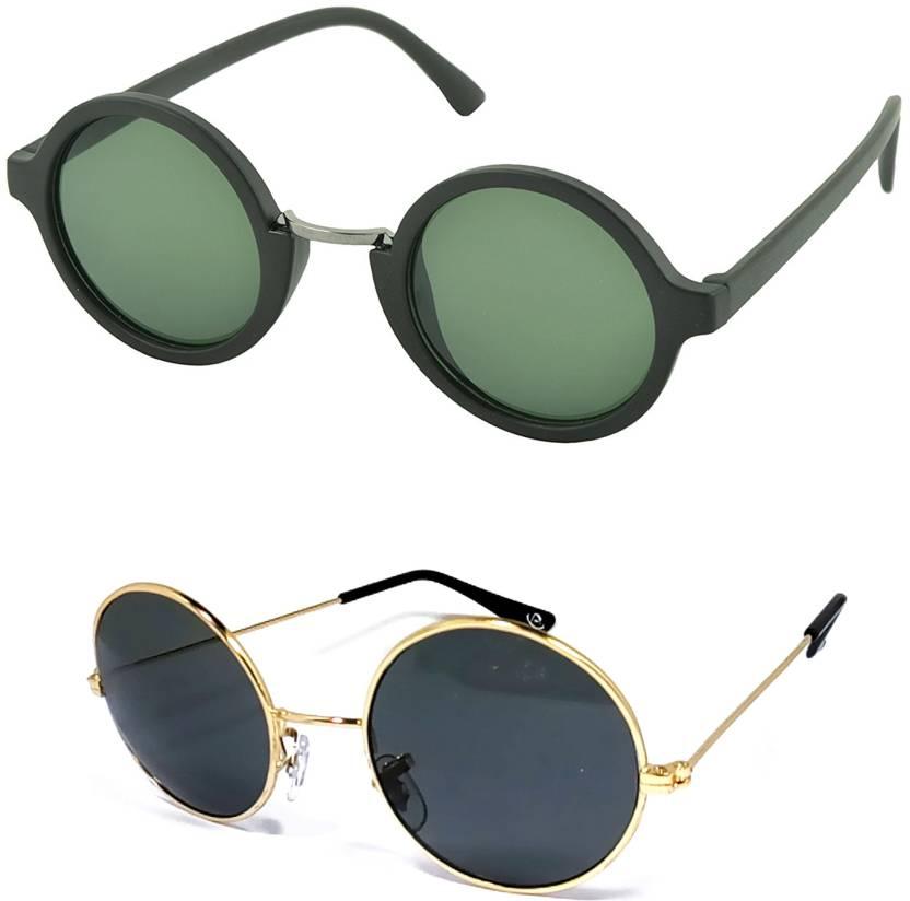 668af0f1b3 Buy Aventus Round Sunglasses Green
