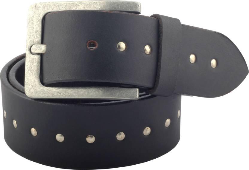 e6c14379b Hidelink Men   Women Casual Black Genuine Leather Belt Black - Price in  India