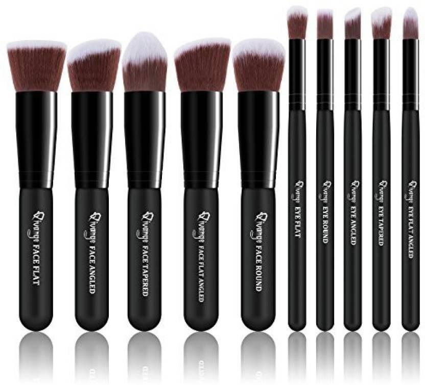 c8fbab733b93 QIVANGE Makeup Brush Set Kabuki Brushes Foundation Blush Blending ...