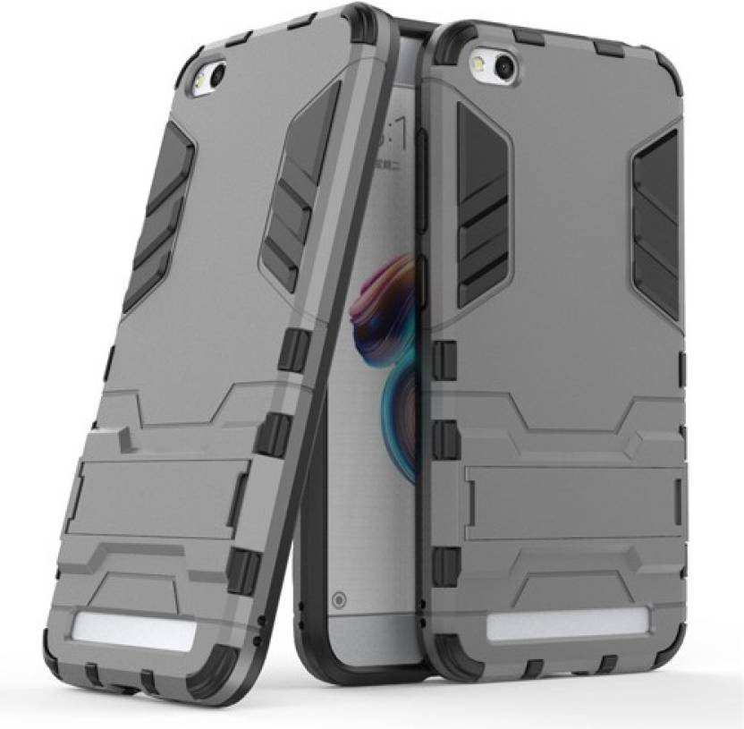 Z Z Back Cover for Redmi 5A Robotic D3 cover (Grey & Black, Rugged Armor, Rubber, Plastic)