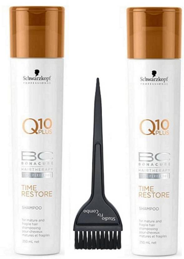28a5fe838f Studio Fix Combo Hair Brush & BC Bona Cure Time Restore Q10 Plus Shampoo 2  of Schwarzkopf (Set of 3)