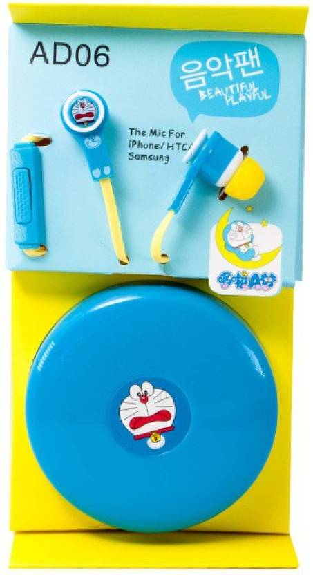 Affeeme Ad06 Cartoon Earphones With Microphone And Storage Wrap Box ...