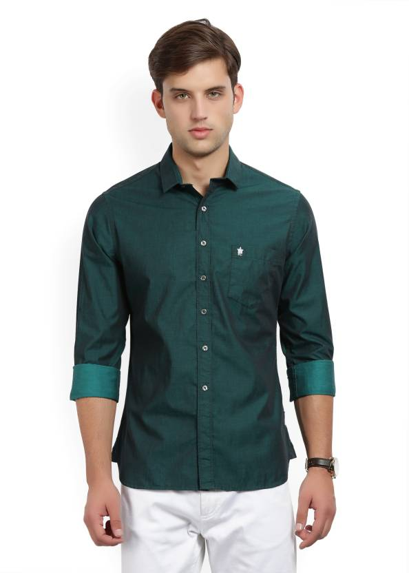 3f35f4bbed0 French Connection Men's Solid Casual Dark Green Shirt - Buy Green French  Connection Men's Solid Casual Dark Green Shirt Online at Best Prices in  India ...