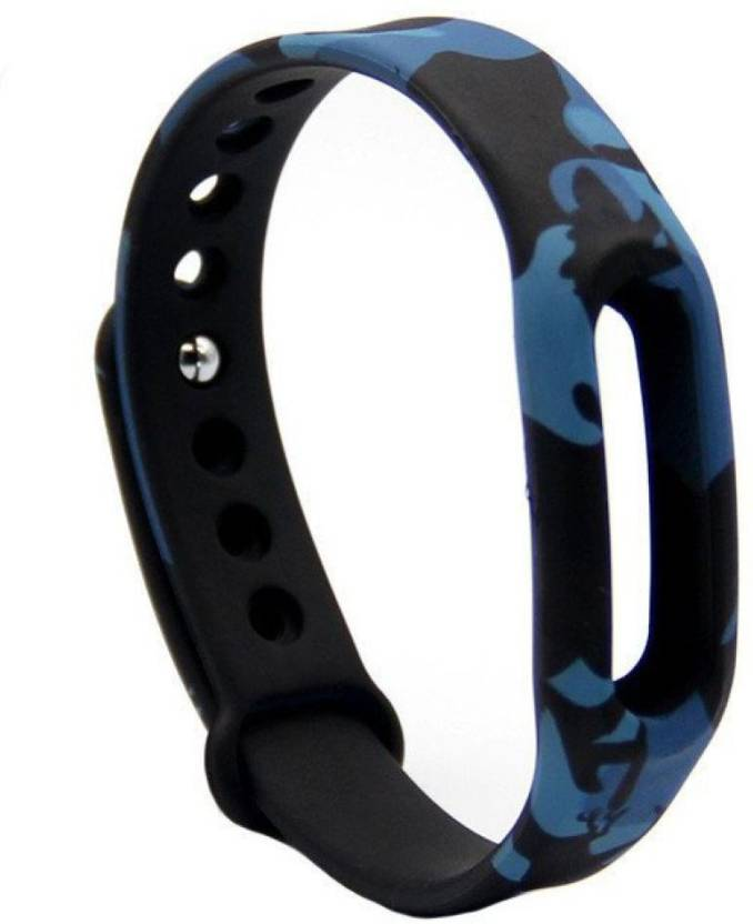 MStick Premium Quality Replacement Strap for Xiaomi Mi Band 2 Strap & Mi Band HRX Edition Strap Blue Camouflage| Mi Band 2 Straps Military Army Style Smart ...