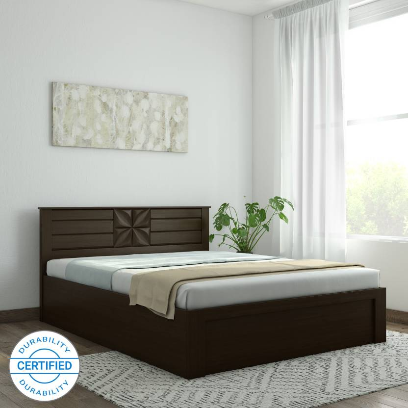 Spacewood Engineered Wood Queen Hydraulic Bed  (Finish Color