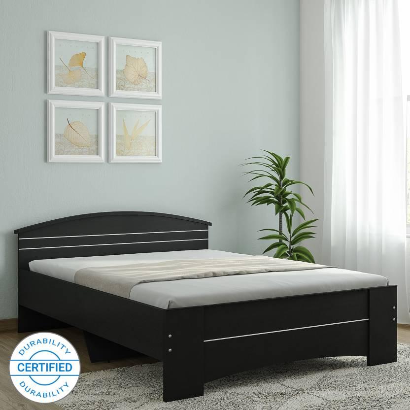 Spacewood Maxima Engineered Wood Queen Bed Price in India - Buy ...
