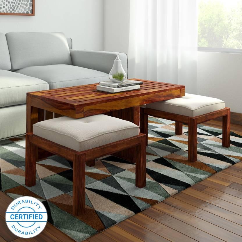 4c377bcb779f Home Edge Kaffano Sheesham Solid Wood Coffee Table (Finish Color - Teak)