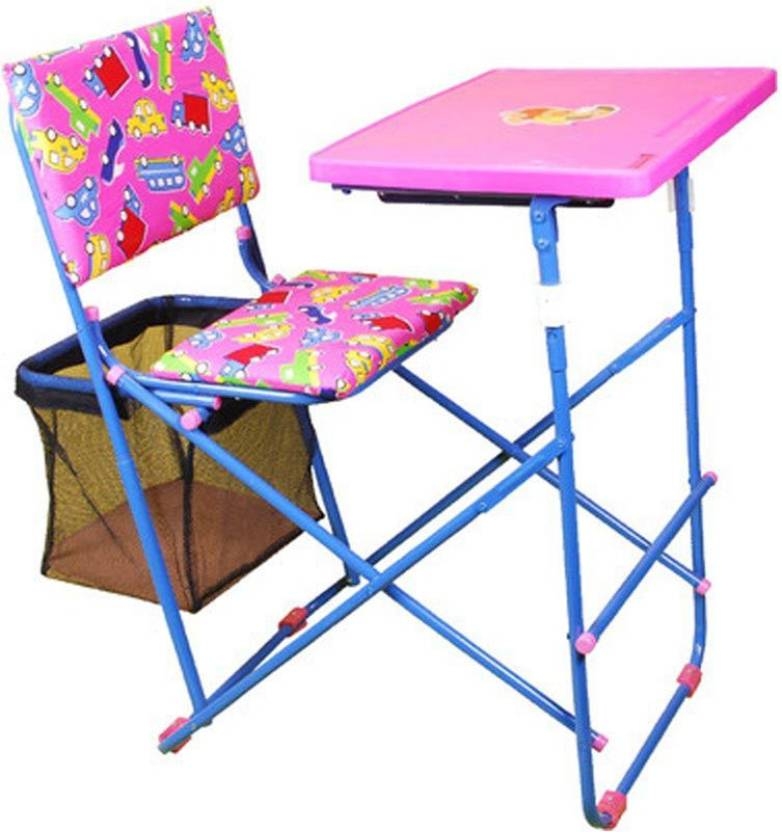 18f3596aa6 Mothertouch educational desk dx Metal Study Table (Finish Color - pink)