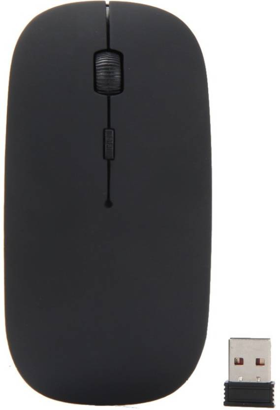 d40b91302d2 Wolfano Stylish Slim 2.4 GHz Optical Wireless Mouse Mice with USB Receiver  for Macbook Computer PC Laptop Wireless Optical Mouse (USB, Black) Wireless  ...
