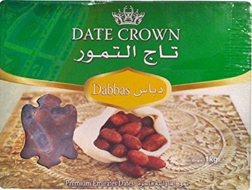Date Crown Premium Emirates Dates Dabbas (1 Kg) Dates Price in India