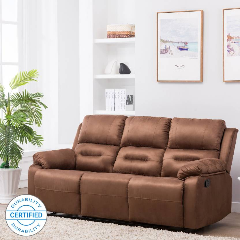 fiber bergen kart Flipkart Perfect Homes Wayne 3 Seater Fabric Recliner Price in  fiber bergen kart
