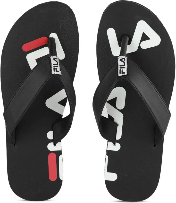 a59d83d52d14 Fila SPREAD FILA Flip Flops - Buy BLK WHT RD Color Fila SPREAD FILA Flip  Flops Online at Best Price - Shop Online for Footwears in India