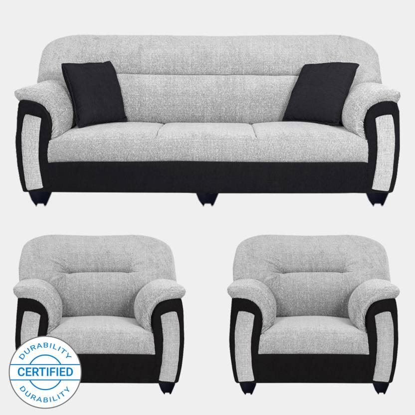 74c5755d5a9 Bharat Lifestyle New Sagittarius Fabric 3 + 1 + 1 Black Grey Sofa Set Price  in India - Buy Bharat Lifestyle New Sagittarius Fabric 3 + 1 + 1 Black Grey  Sofa ...