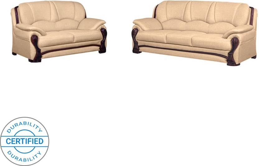 1a08b004ead Bharat Lifestyle China Gate Fabric 3 + 2 Gold Sofa Set Price in ...