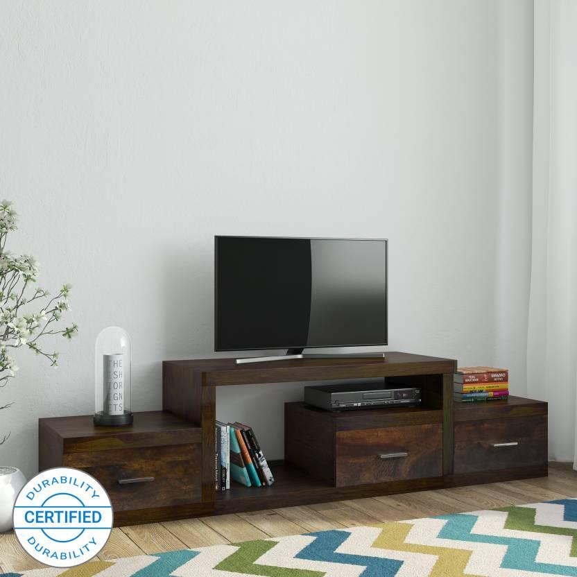 8f4aeeaf6705 TimberTaste Saroj Sheesham Solid Wood TV Entertainment Unit (Finish Color -  Natural Teak)