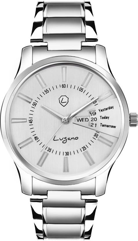c4e91bf3e6b Lugano LG 10063 Exclusive Day   Date Series Watch - For Men - Buy Lugano LG  10063 Exclusive Day   Date Series Watch - For Men LG 10063 Online at Best  Prices ...