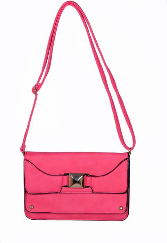 484b61bb59a Dazy Fashions PU Leather Sling Bag / Side Bag For Girls (Black) Waterproof  Sling Bag (Black, 5 L)