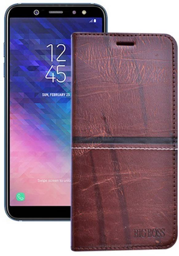 brand new ce752 9b69e Marshland Flip Cover for Samsung Galaxy A6 Plus leather Genuine ...
