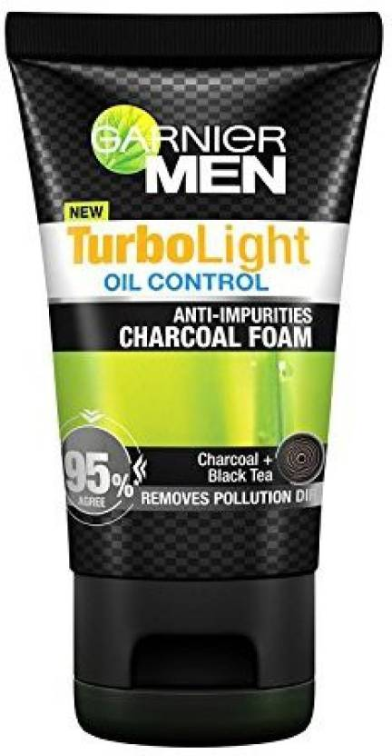Garnier Men Turbolight Oil Control Charcoal Black Foam (100 ml)