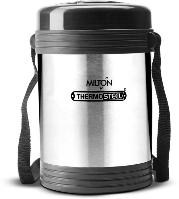 ec47f811859e Milton Insulated Tiffin Thermosteel Legend 4 Steel Plain 4 Containers Lunch  Box