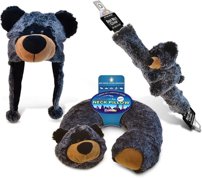 Black Bear Super-Soft Plush Safety Belt