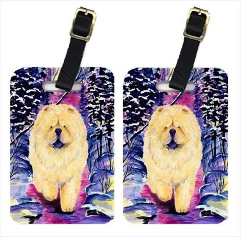 Caroline S Treasures Ss1005bt Chow Chow Luggage Tag Multicolor
