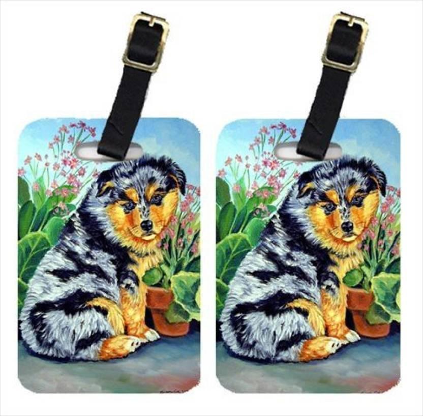 Caroline's Treasures 7045BT Australian Shepherd Puppy Luggage Tag