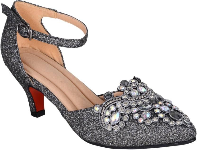 1bb0db82b97 SHERRIF SHOES Women Gunmetal Heels - Buy SHERRIF SHOES Women Gunmetal Heels  Online at Best Price - Shop Online for Footwears in India