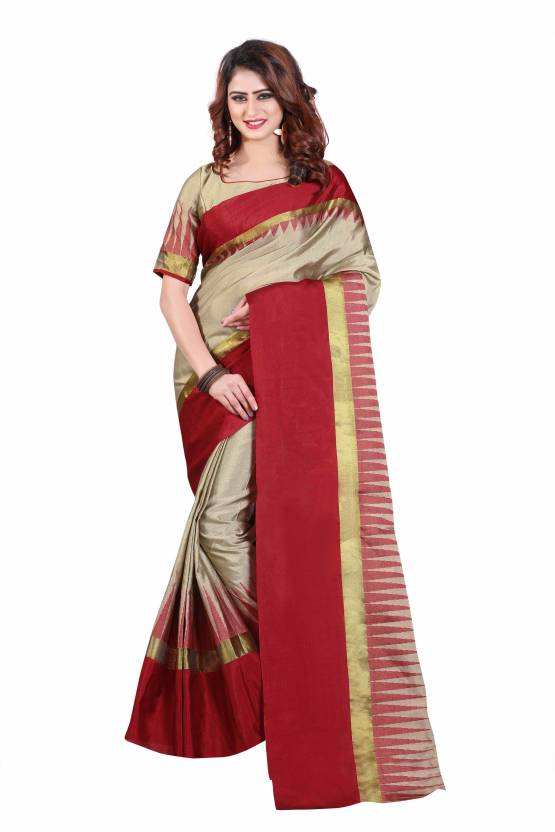 edaeeb11d5 Buy S J Trendz Self Design Kerala Cotton Silk Multicolor Sarees ...
