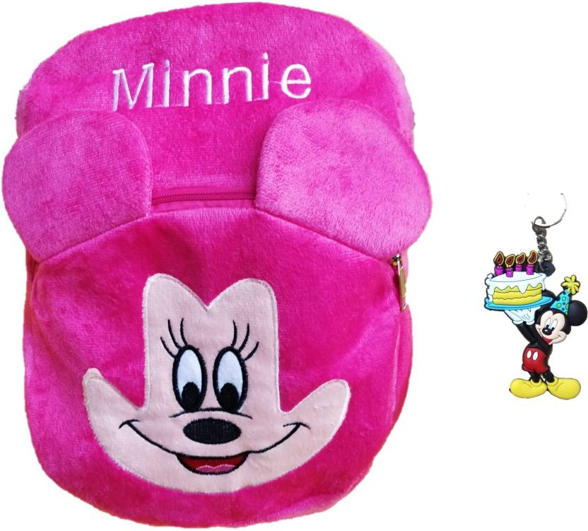 66a168b72bb toyjoy Minnie mouse school bag 30cm for kids girls boys children plush soft  bag backpack cartoon bag gift for kids - 35 cm (Pink)