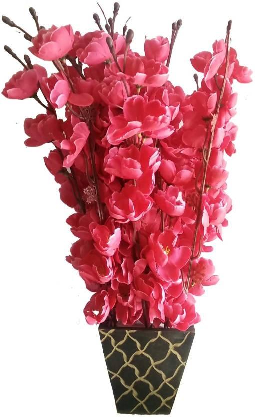 ddfc0756fc0b8 kaykon Supreme Home Decorative Artificial Flowers With Big Designer Wooden  Pot - 17 inch Flowers Red Orchids Artificial Flower with Pot (17 inch