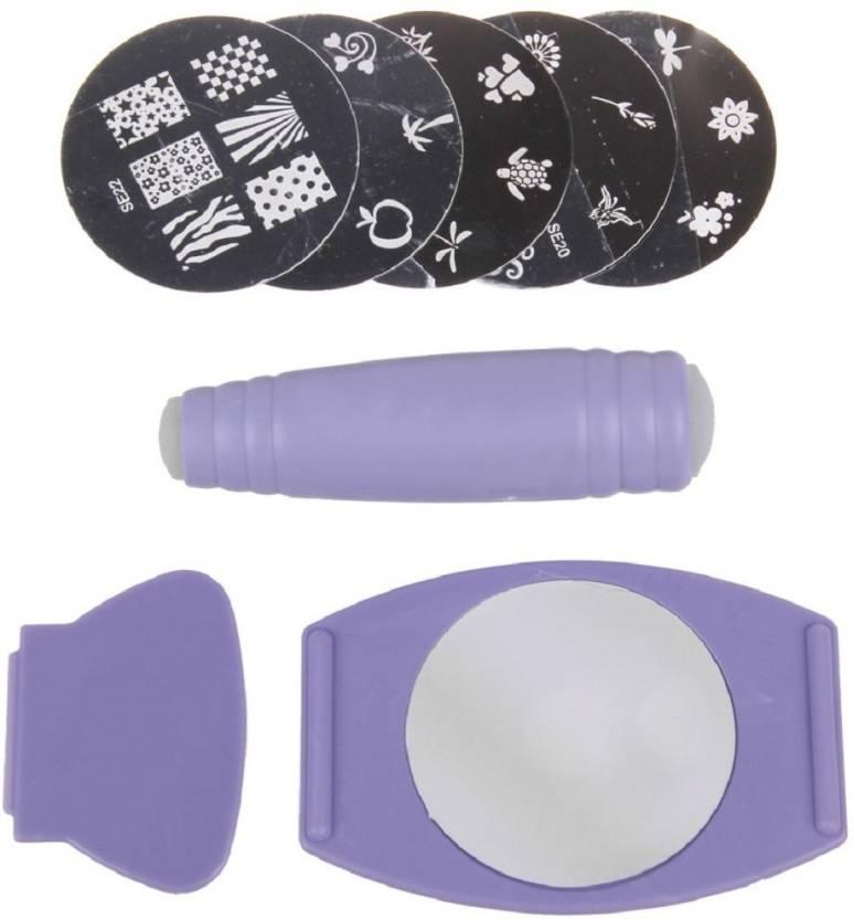 Elegantshopping Stamping Nail Art Kit Combo Random Design Price