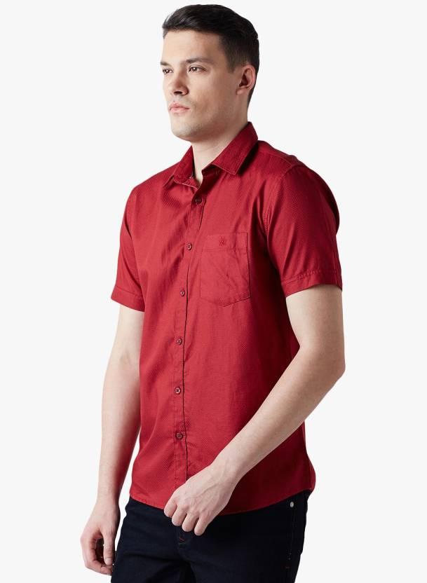 184e2df6388c Crimsoune Club Men Self Design Casual Spread Shirt - Buy Crimsoune Club Men  Self Design Casual Spread Shirt Online at Best Prices in India