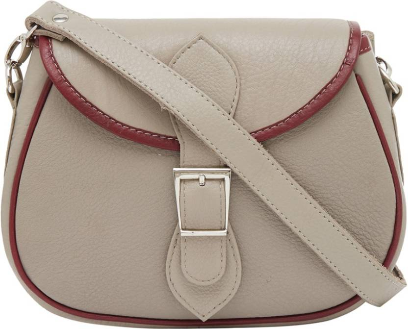d8cb5321d93 Leather World Girls Casual Beige Genuine Leather Sling Bag Beige ...
