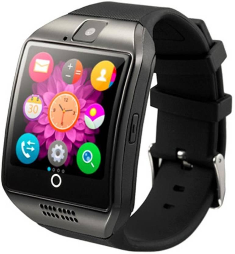 BERRIN Q18 Bluetooth Smart Watch Black Smartwatch Price in