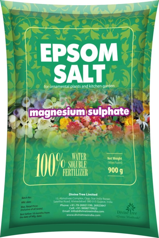Divine Tree Epsom Salt For Plants,Gardening Magnesium Sulfate Water Soluble  Fertilizer Soil Manure