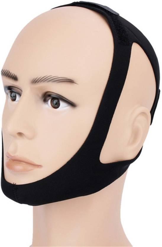 DALUCI Black Color Anti Snore Chin Strap Care Sleep Stop Snoring Belt Chin  Jaw Supporter Apnea Belt For Men Women Stop snoring strap Anti-snoring