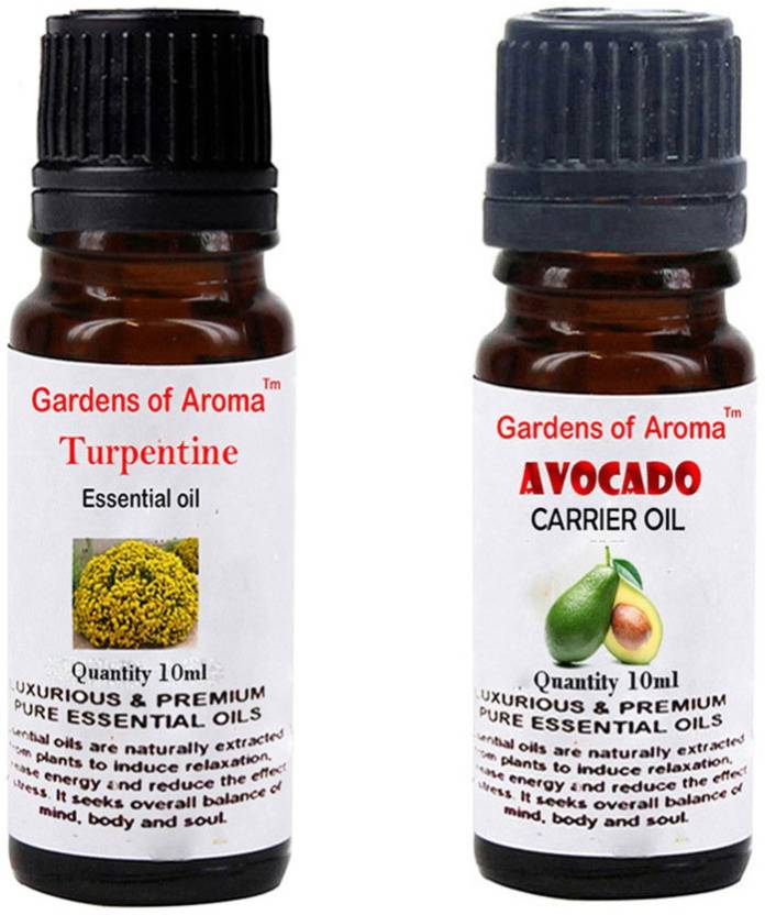 Gardens Of Aroma Turpentine Essential Oil And Avocado Carrier Oil