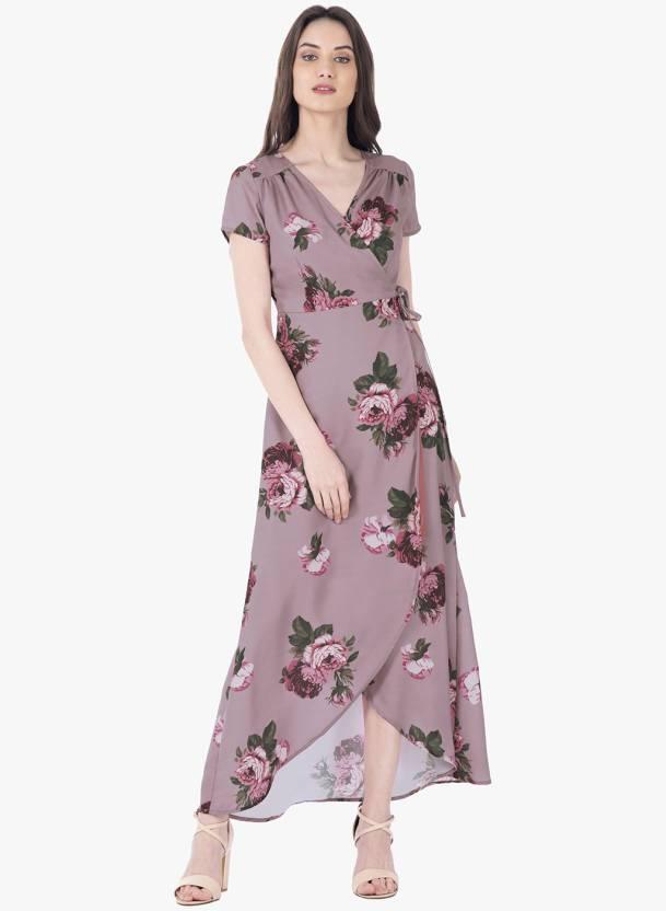 65f19627a400 FabAlley Women Maxi Pink Dress - Buy FabAlley Women Maxi Pink Dress Online  at Best Prices in India