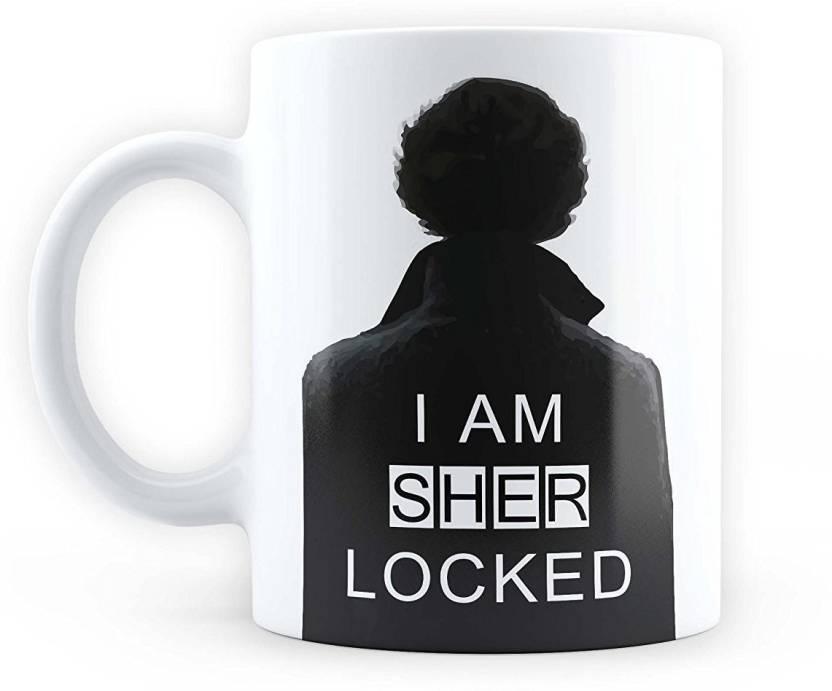 Devron I am Sherlocked - [ Sherlock Holmes, Benedict Cumberbatch ] Quirky Coffee Valentine's Day Gifts Birthday Ceramic Mug (330 ml)