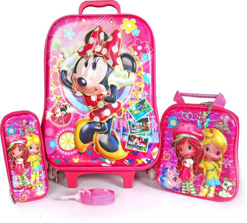 d6b4f0b7fa9 Kathiyawad Shopping CHILDREN TROLLY BAG MICKY MOUSE DESIGNER 3D PRINTED BAG  SMALL CHILDREN BAG FOR CHILDREN EASY CARE TO BAG TROLLY BAG Waterproof  School ...
