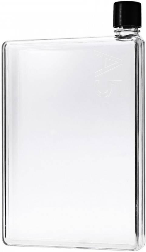 b78003f2db PRiQ A5 Durable Memo Notebook Ultra Slim 420 ml Water Bottle BPA Free  (transparent) 420 ml (Grey)