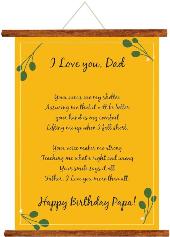Giftsmate Fathers Day Greeting Cards Happy Birthday Papa Love You Dad Message Scroll Card For Wall Hanging Decor