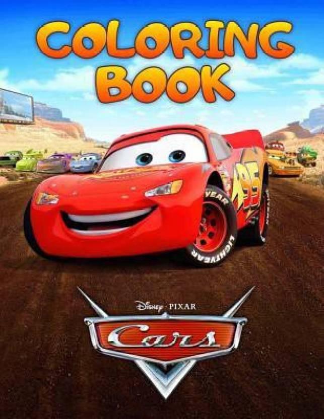 Disney Cars Coloring Book: Buy Disney Cars Coloring Book by Paradise ...