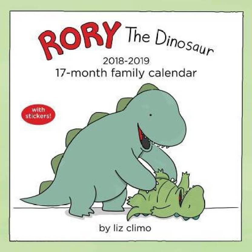 rory the dinosaur 2018 2019 17 month family calendar buy rory the
