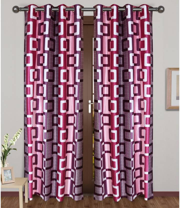 G DÉcor 274 Cm 9 Ft Polyester Long Door Curtain Pack Of 2