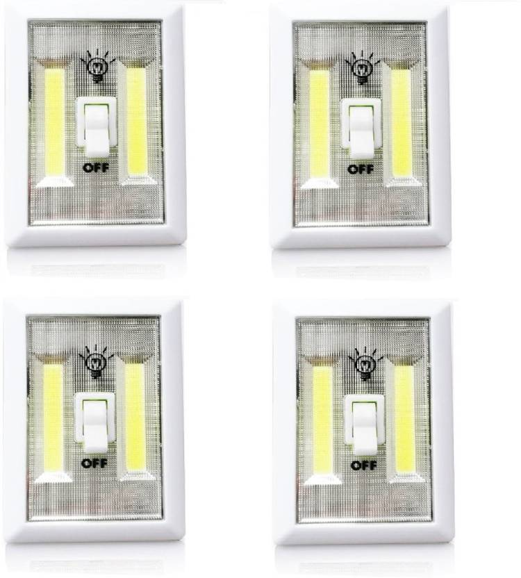 Maison & Cuisine Super Bright COB LED Cordless Switch Light5188 (Pack Of 4)  Emergency Light