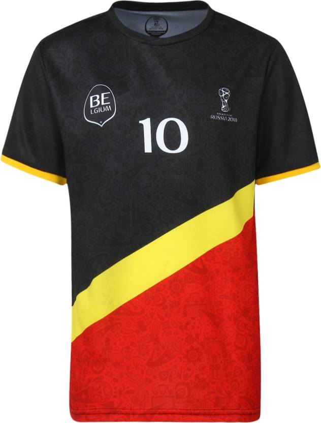 b7e8c8d81c9 FIFA BELGIUM Boys Graphic Print Polyester T Shirt (Black, Pack of 1)