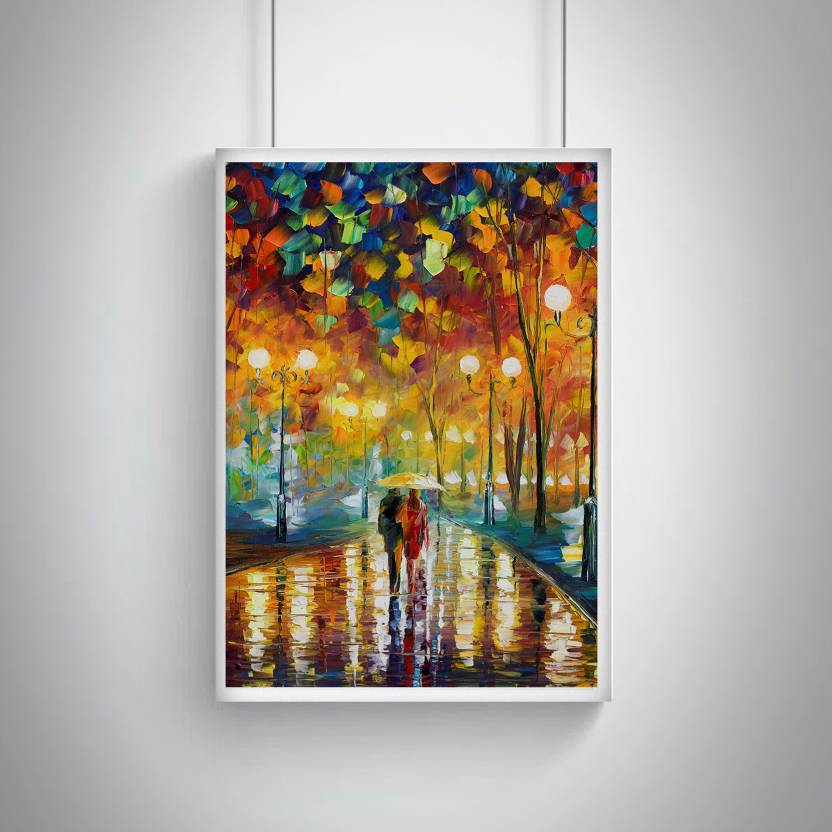 Cool Trendy Quirky Posters Couple Walking Canvas Painting Design